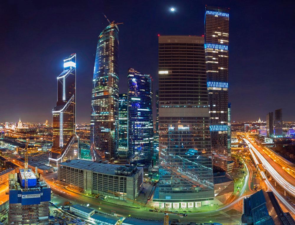 Ночной вид «Москва-Сити»