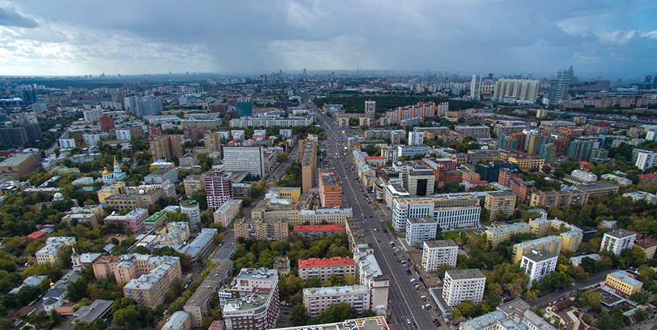 Вид на Пресненский район ЦАО Москвы