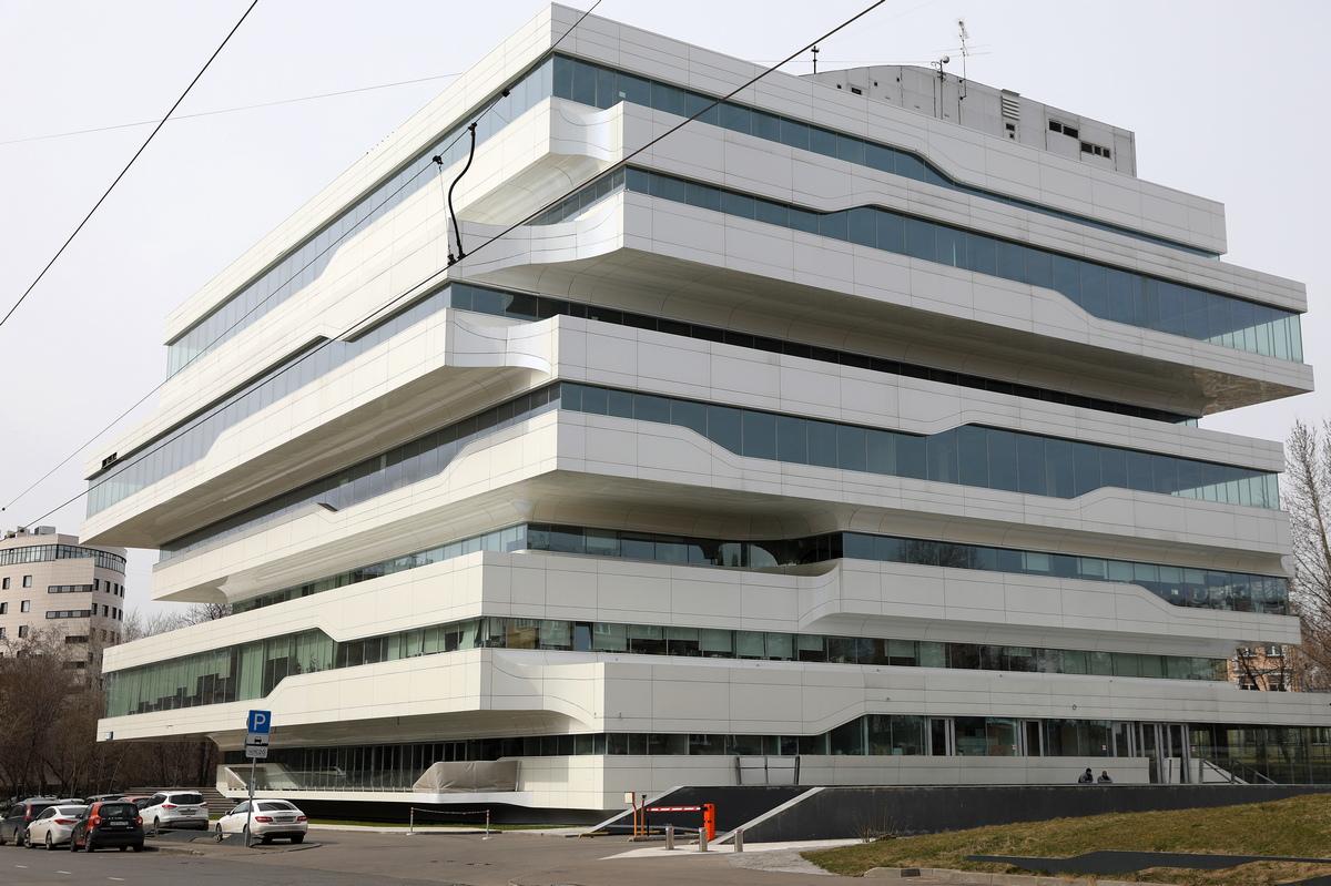 Бизнес-центр Dominion Tower расположен на Шарикоподшипниковской улице в Москве. Белоснежное здание— единственная работа Хадид в российской столице