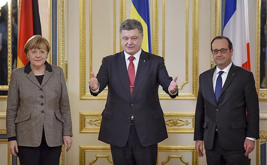 Порошенко обсудит с Меркель и Олландом в Берлине ситуацию в Донбассе