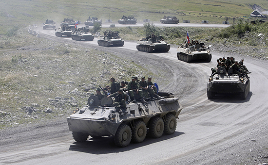 Август 2008 года. Российская военная техника в Южной Осетии