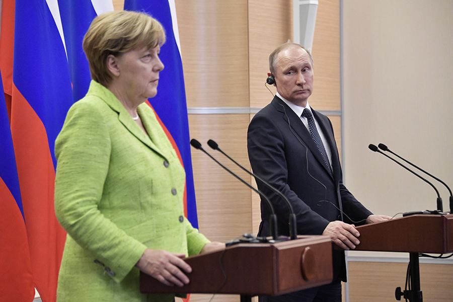 Ангела Меркель иВладимир Путин