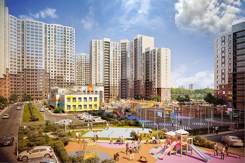 Квартал «Новые Котельники» состоит из 14 домов переменной высотности — от 13 до 25 этажей