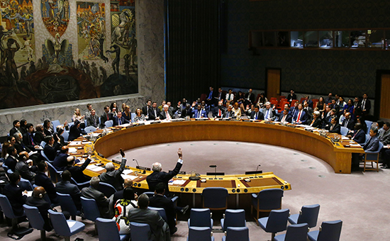 Заседание Совета БезопасностиООН