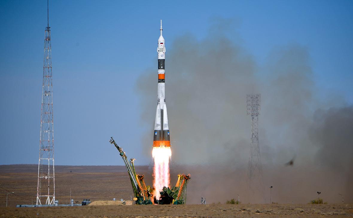 Старт ракеты-носителя «Союз-ФГ»