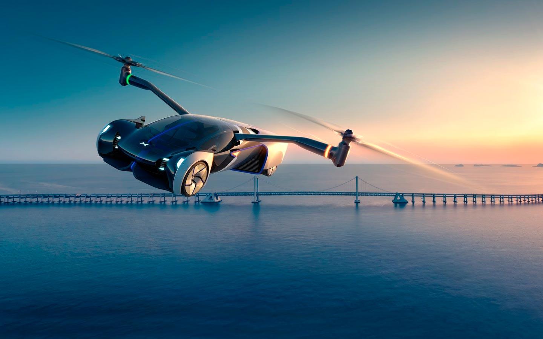 Китайский XPeng выпустил летающий автомобиль с выдвижными винтами