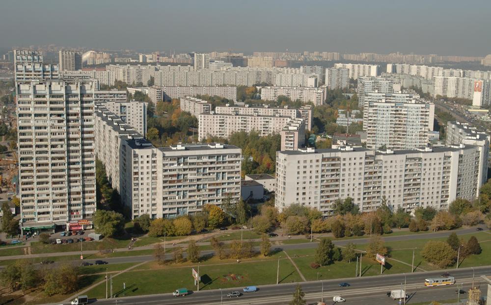 Вид на жилой микрорайон Строгино