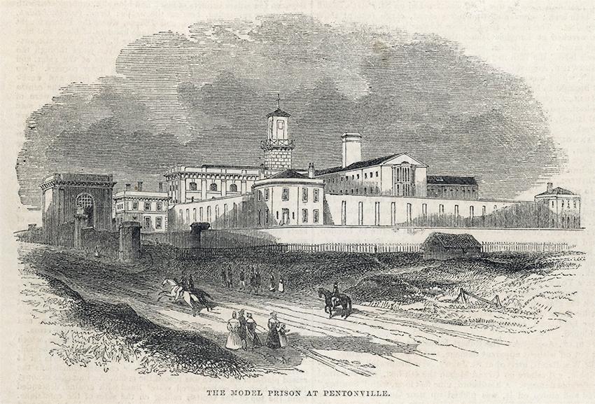 Гравюра тюрьмы Пентонвиль, 1842 год