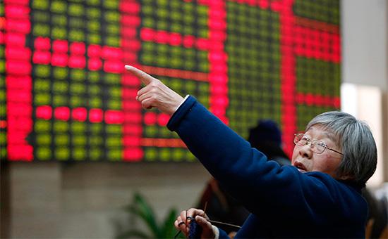 Инвестор на бирже в Шанхае