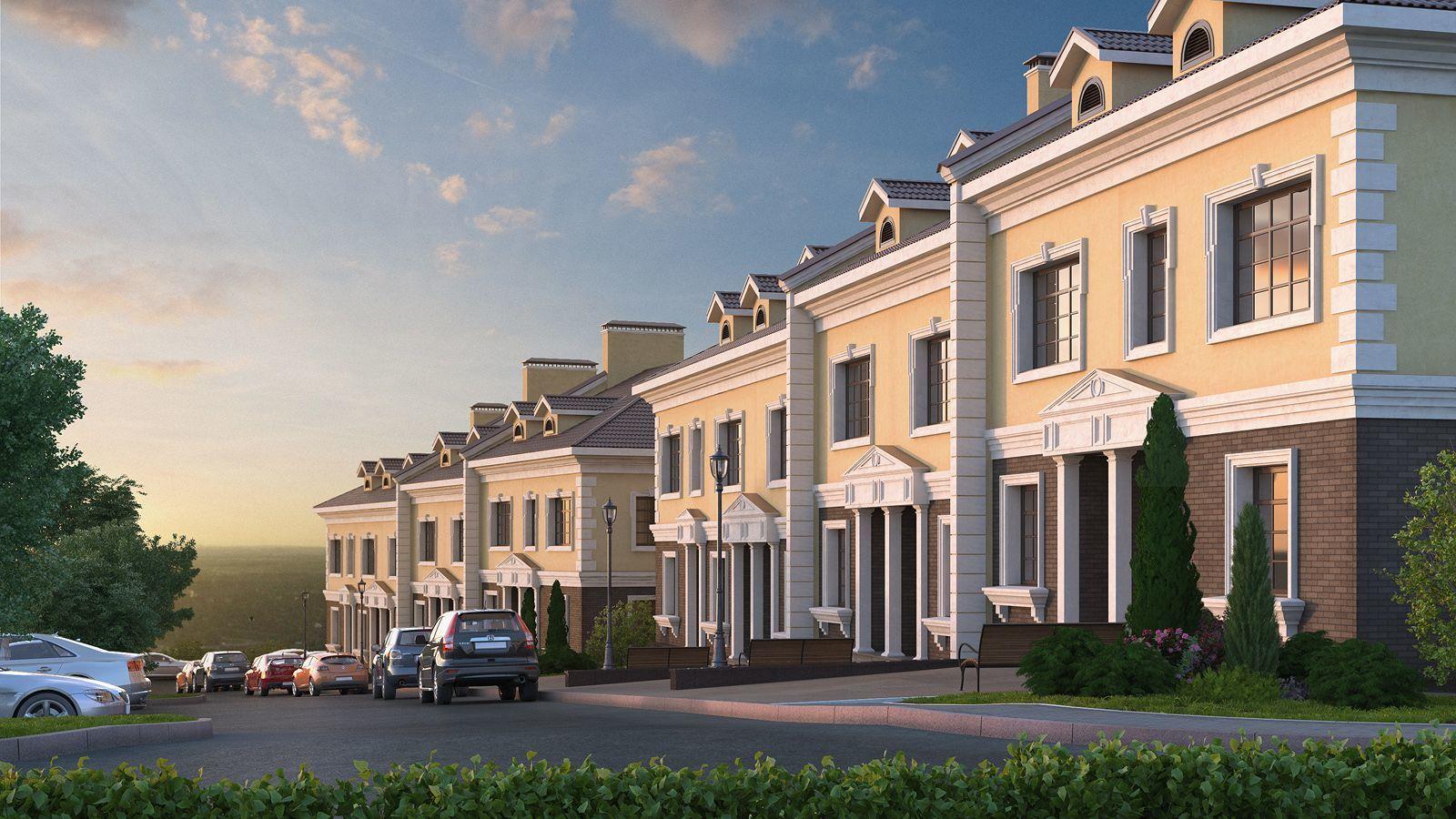 В Новой Москве В 12 км к югу от МКАД строится поселок таунхаусов «Спорт-Таун»