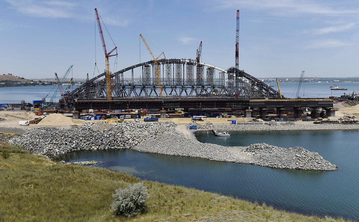 СтроительствоКерченского моста. 20 июня 2017 года