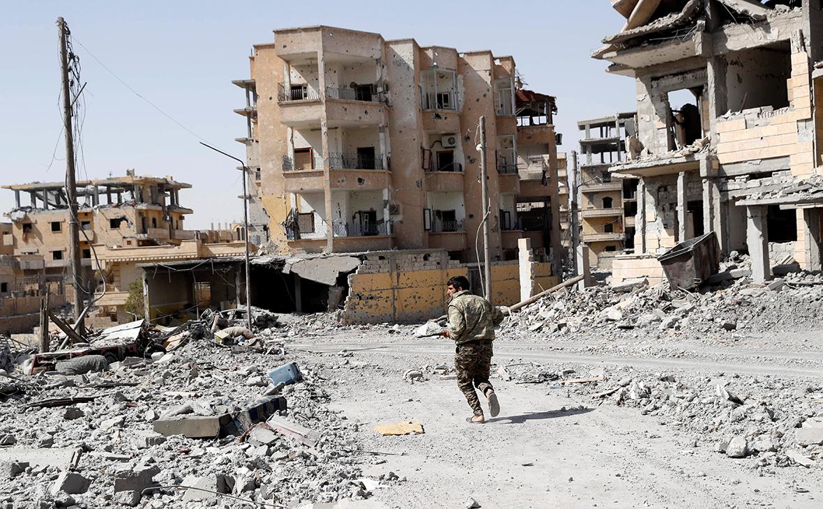 Город Ракка в Сирии. 7 октября 2017 года