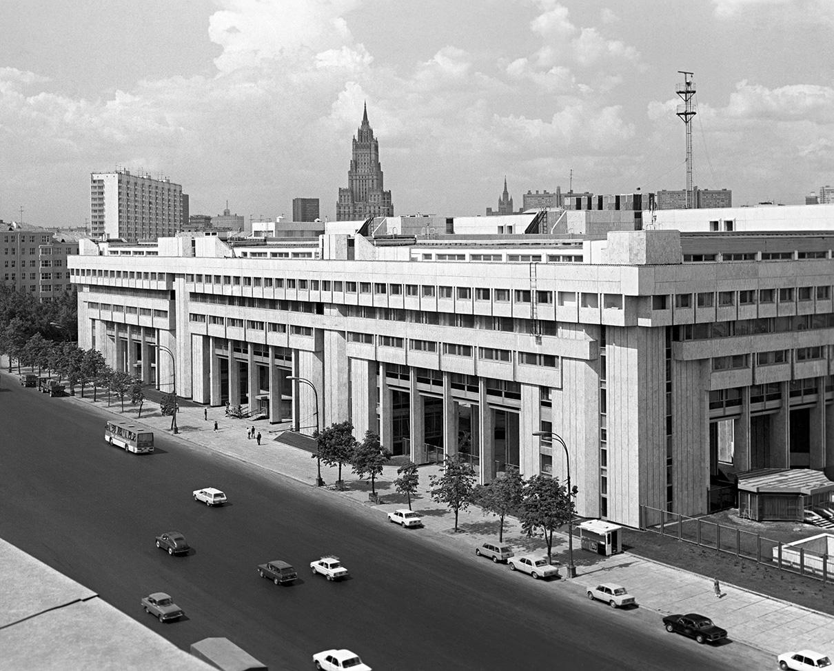 Зубовский бульвар. Здание Главного пресс-центра Олимпиады-80. 1980 год