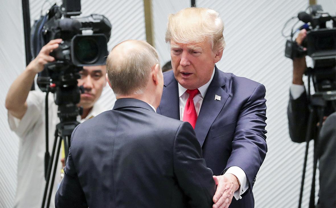 Владимир Путин и Дональд Трамп.11 ноября 2017 года