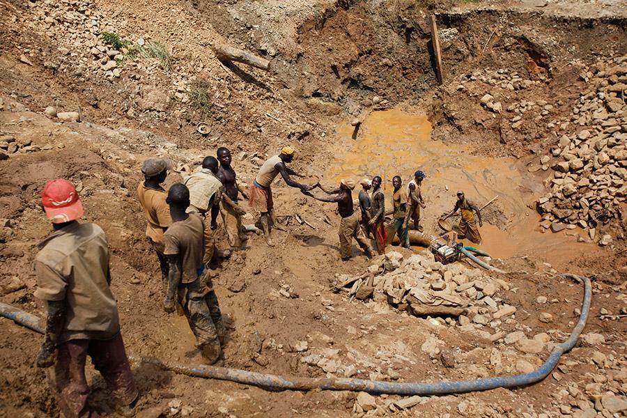 Золотодобыча в Конго
