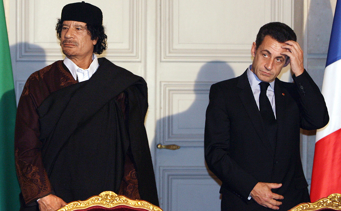 Муаммар Каддафи и Николя Саркози