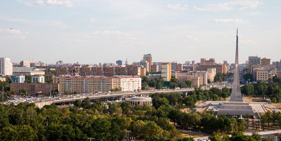 Вид на Алексеевский район Москвы