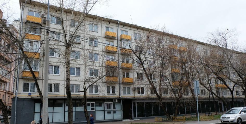 Жилой пятиэтажный дом наДружинниковской улице вПресненском районе