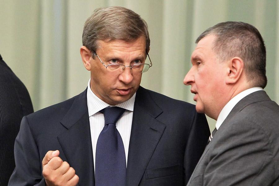 Владимир Евтушенков (слева) и Игорь Сечин