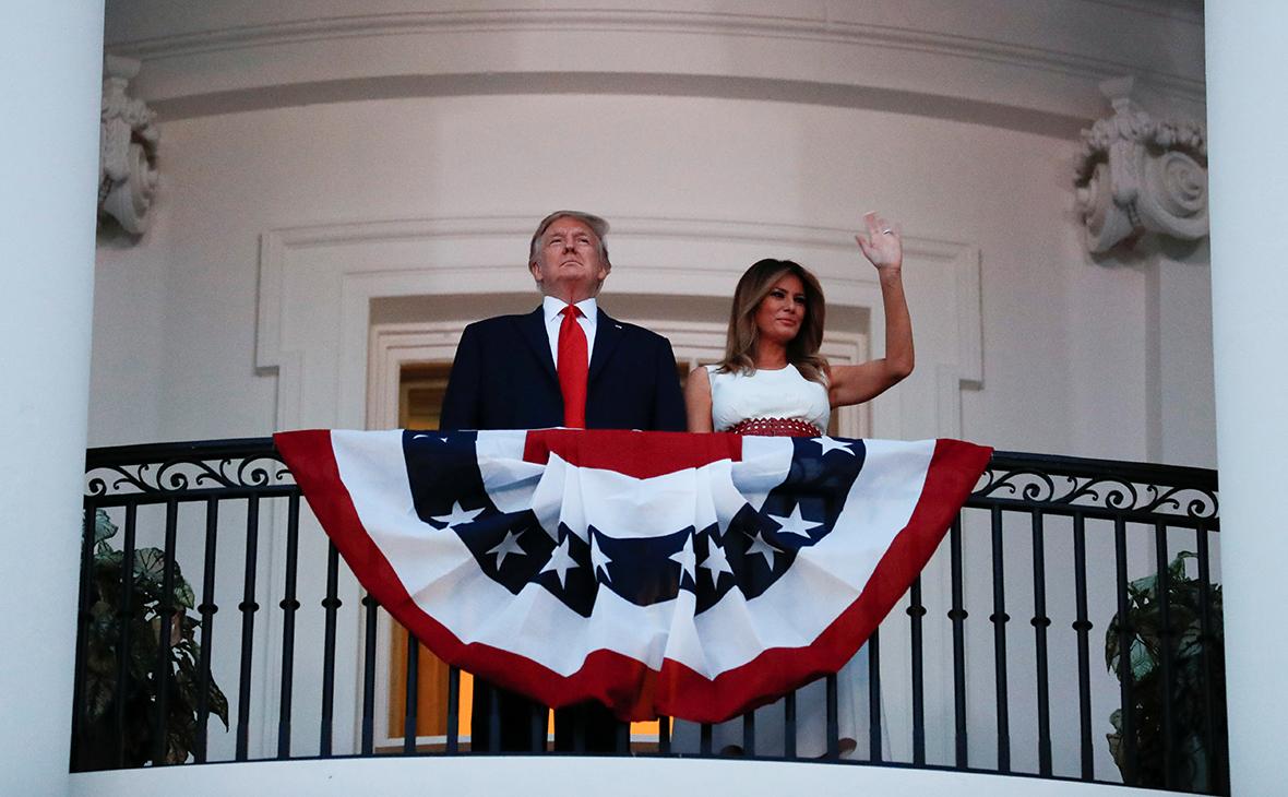 Дональд и Мелания Трамп во время мероприятий посвященных празднованию Дня независимости