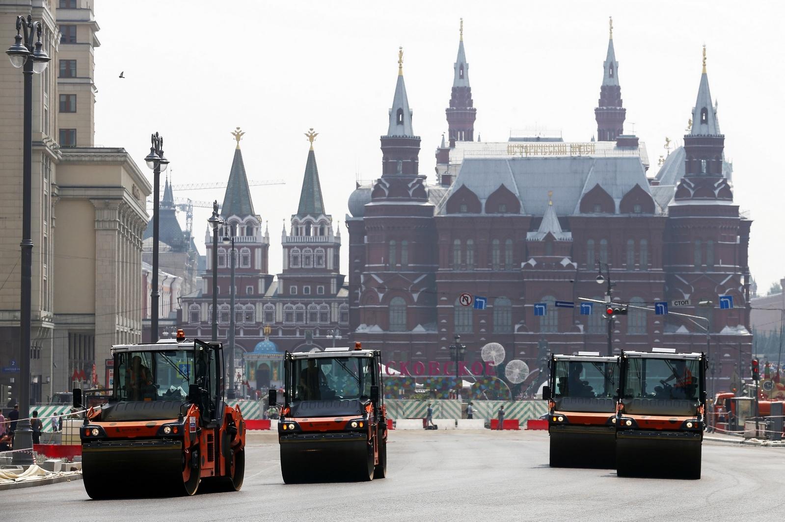 Первый этап реконструкции Тверской охватывает участок от Моховой улицы до Пушкинской площади