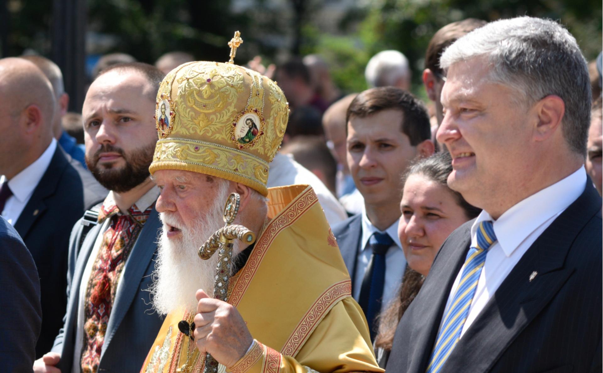 Петр Порошенко и патриарх УПЦ КП Филарет