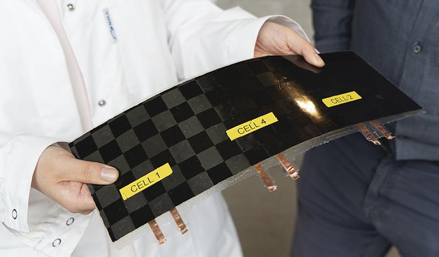 Пластина аккумулятора из углеродного волокна