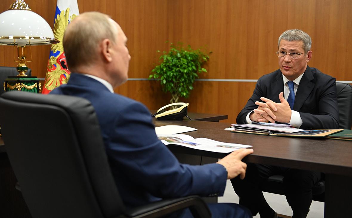 Владимир Путин и Радий Хабиров (слева направо)