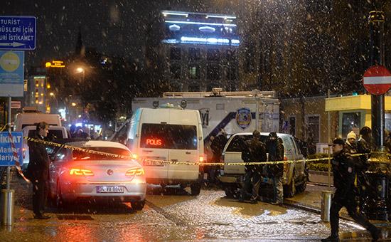 Полицейский участок в Стамбуле, где произошел теракт
