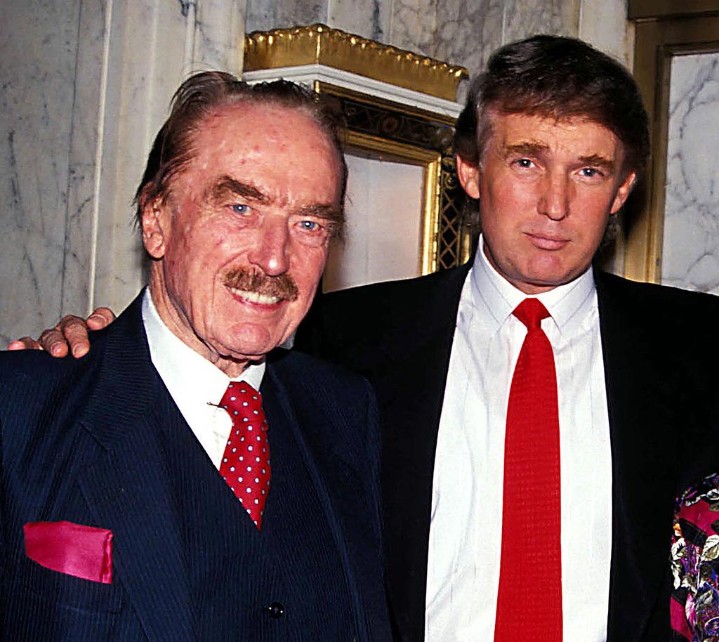 Фред и Дональд Трампы в 1992 году