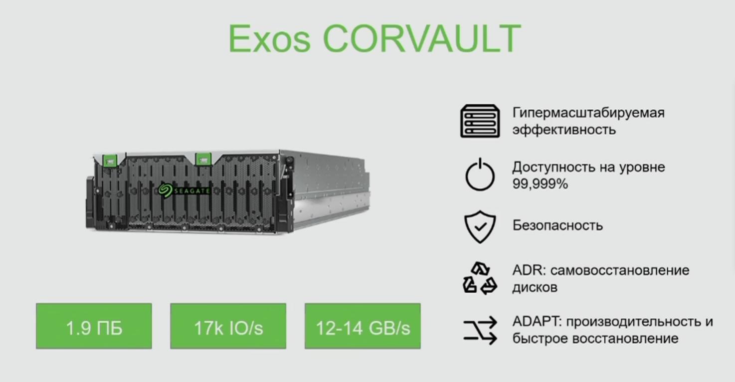 Новый продукт Seagate— Corvault
