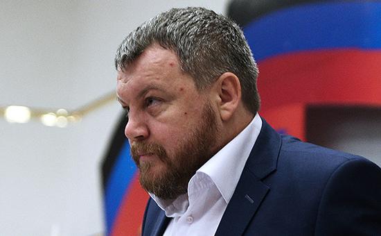 Спикер парламента самопровозглашенной ДНР Андрей Пургин, фото 2014 г.