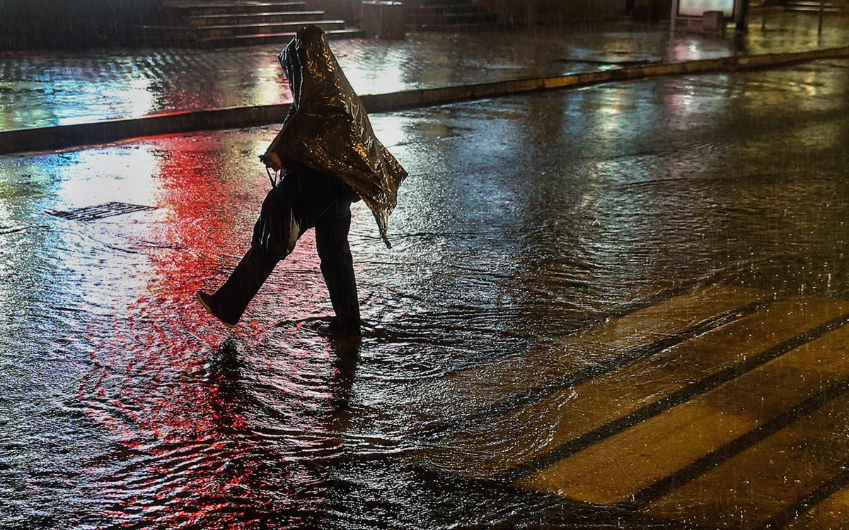 Москвичей предупредили о сильном дожде с мокрым снегом и ветре