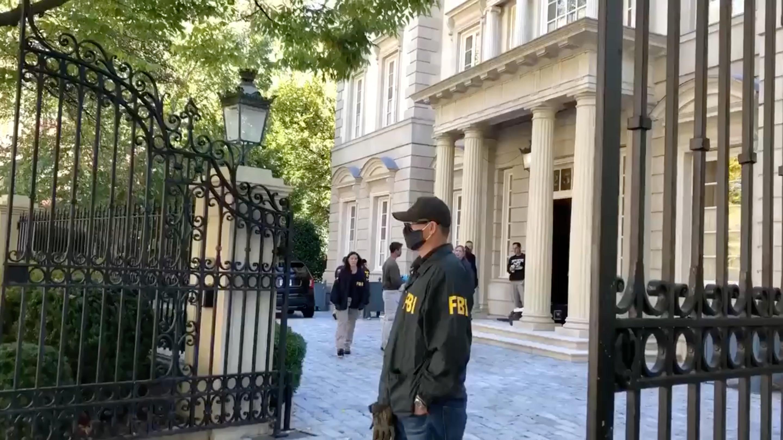 Появилось видео с сотрудниками ФБР у дома Дерипаски в США