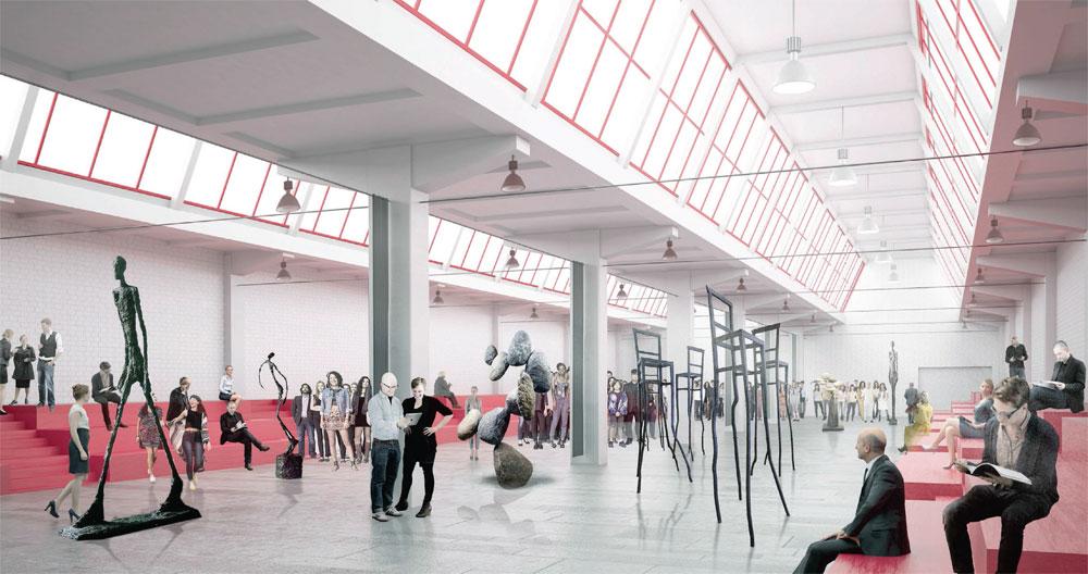 Внутри здания создается «новый город», вкотором улицами являются коридоры