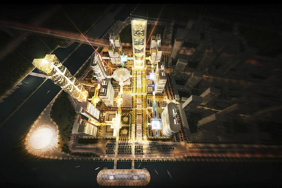 Ханчжоу, Китай  Авторы делового центра называют его «городом вгороде». За местный колорит отвечает музей воды, открытый водном изнебоскребов