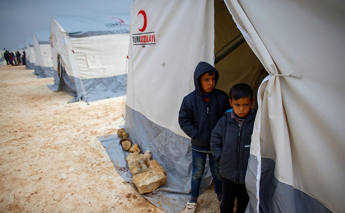 Лагерь в провинции Идлиб