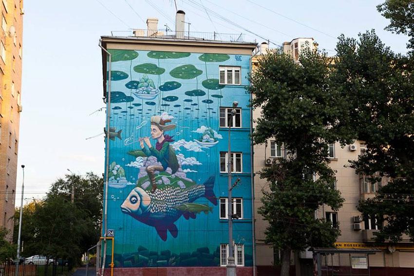 Фото: Художник Рустам Салемгараев, работающий под пседвонимом Qbic