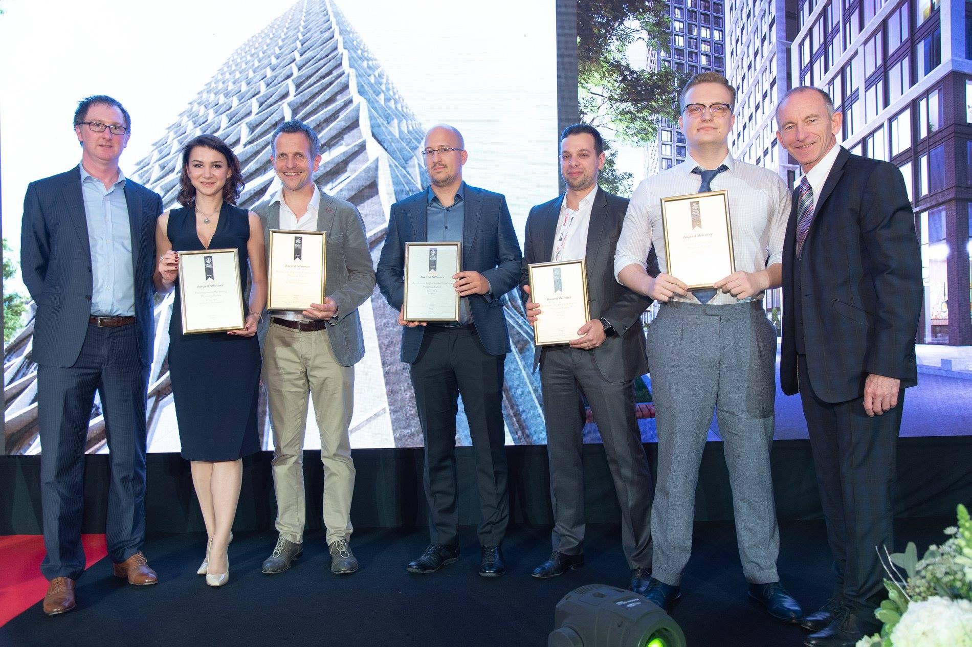 Команда «Прайм Парк» на церемонии награждения International Property Awards 2018