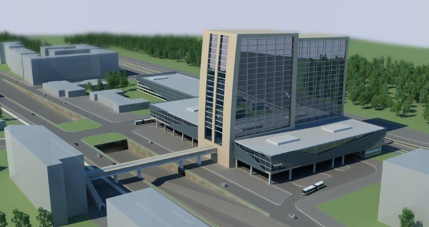 Архитектурная визуализация ТПУ в Нагатино
