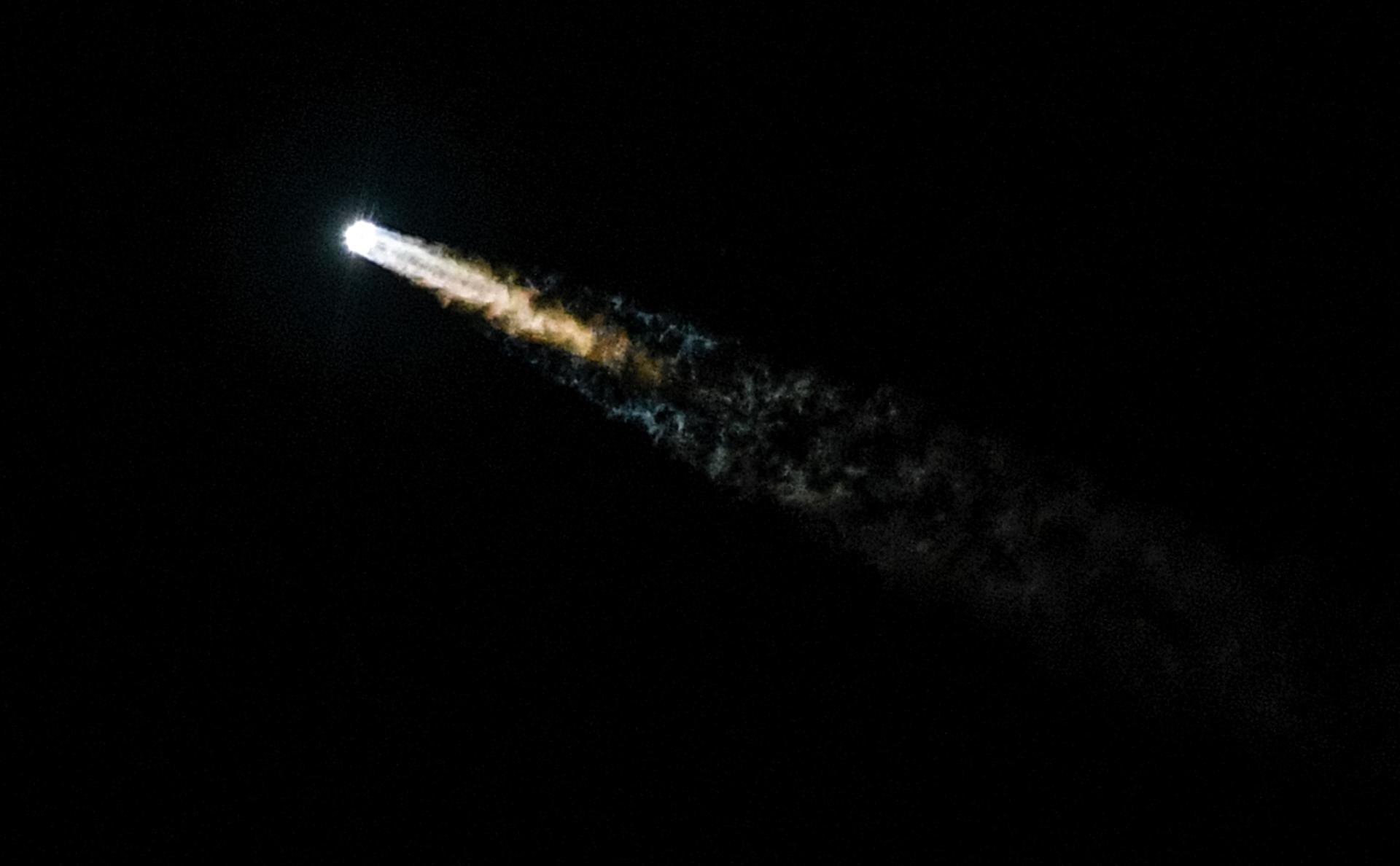 Старт ракеты-носителя «Протон-М» с телекоммуникационным космическим аппаратом «Амазонас-5» в 2017 году