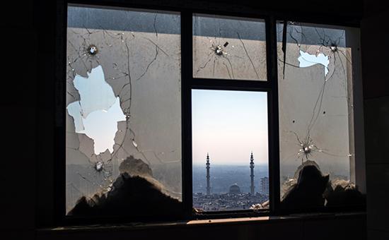 Наблюдательный пункт и огневая позиция Сирийской арабской армии в Хомсе