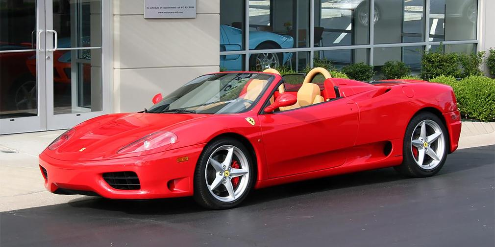 Ferrari 360 Spider F1 (член Совета Федерации от Хабаровского края Александр Шишкин)