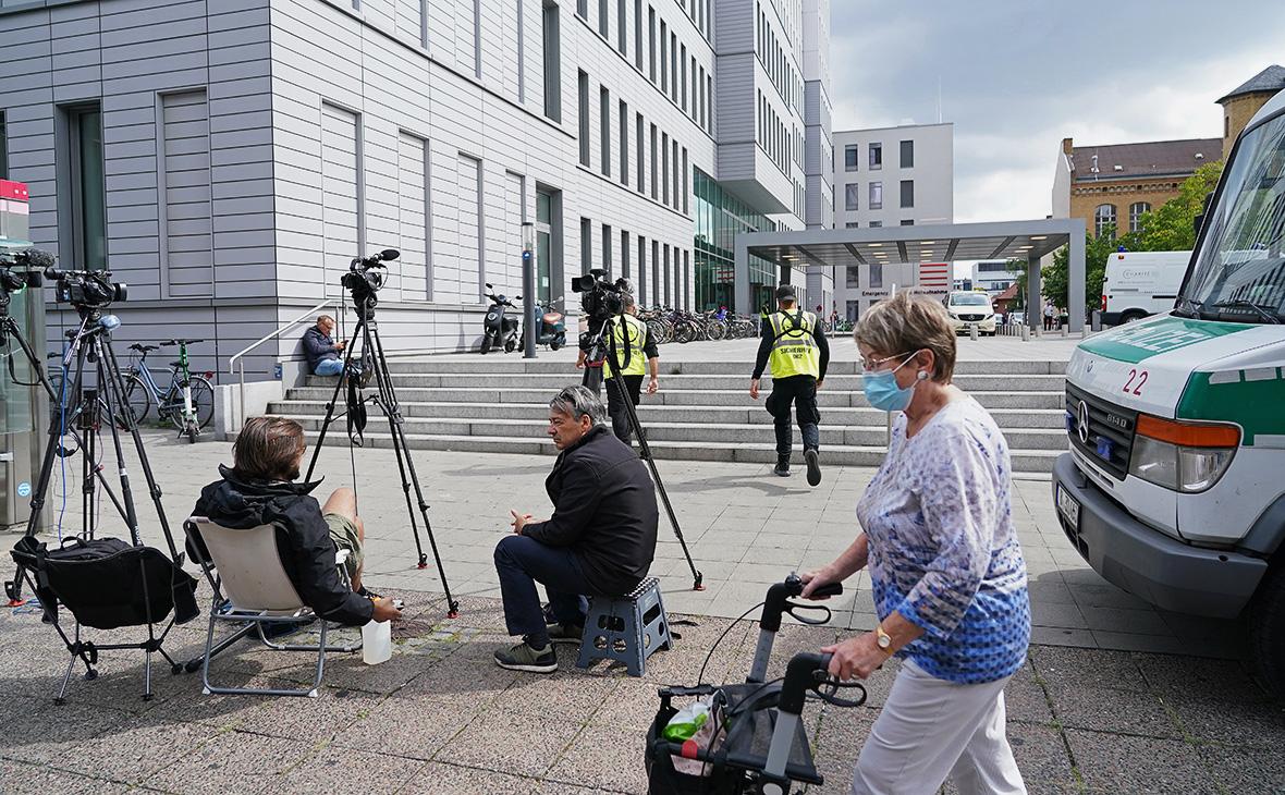 Обстановка около берлинской университетской клиники «Шарите»