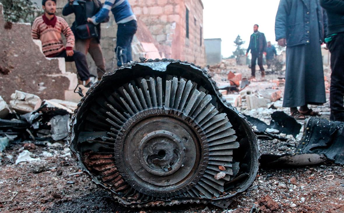 Обломки сбитого Су-25