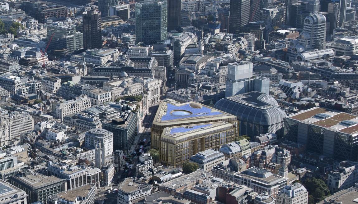 Новый офис Bloomberg расположен практически в самом центре Лондона. Строительство планируется закончить осенью 2017 года