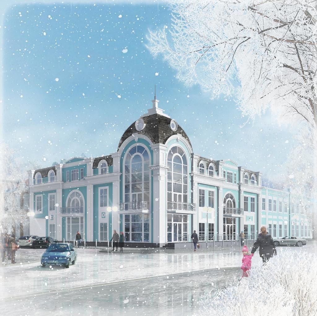 Проект офисного здания в центре Оренбурга (не реализован)
