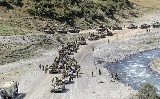 Южная Осетия. Российские войска вблизи Цхинвали.8 сентября 2008 года