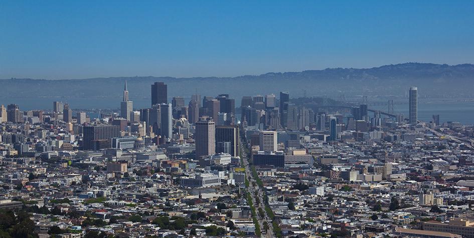 Сан-Франциско. Вид на город