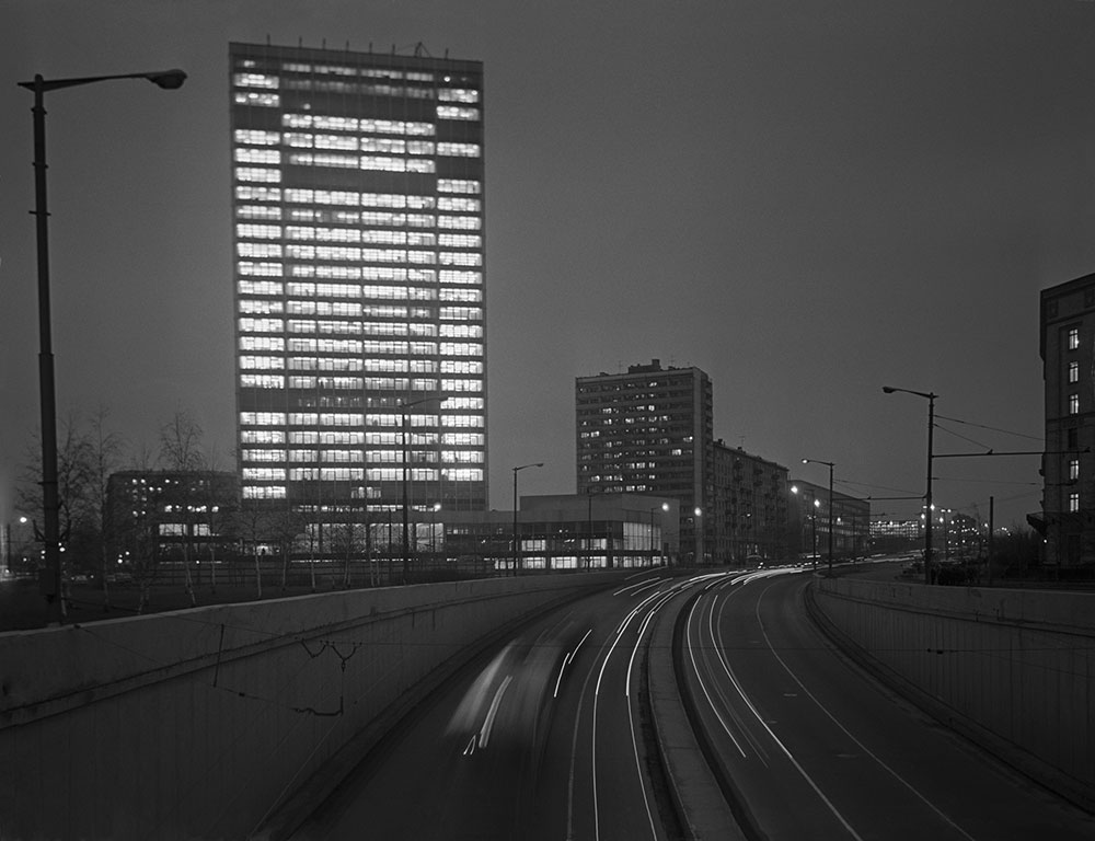 Здание института «Гидропроект» на развилке Ленинградского и Волоколамского шоссе. 1969 год